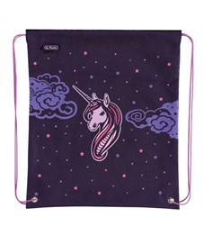 Мешок для обуви Herlitz Girls Mix 1 Unicorn Night