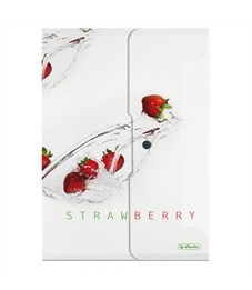 Папка-конверт с кнопкой Herlitz Fresh Fruit, А4, PP, Клубника