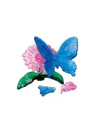 3D Головоломка Crystal Puzzle Бабочка голубая