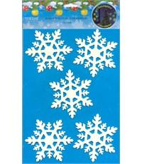 Набор наклеек Снежинки-02, светятся в темноте