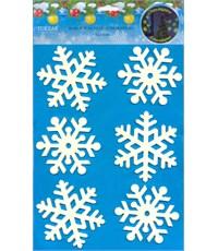 Набор наклеек Снежинки-01, светятся в темноте