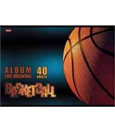 Альбом для рисования 40 л. А4 Спортклуб Баскетбол