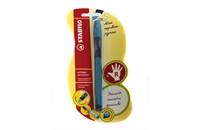 Шариковая ручка из серии Stabilo LeftRigh для правшей (R) голубая, в блистере