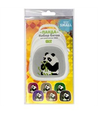 Бит для Kids пикселей для 3 картин. Панда