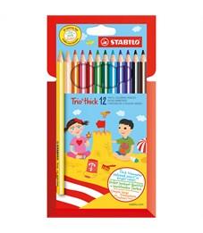Цветные карандаши трехгранные Stabilo Trio 6шт 12 цветов 203/12-01