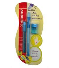 Механический карандаш для обучения письму Stabilo LeftRight для левшей, голубой 6613/1-3В