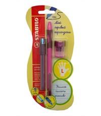 Механический карандаш для обучения письму Stabilo  LeftRight  для левшей, розовый 6613/1-3В
