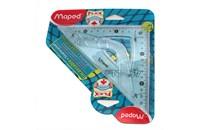 Гибкий треугольник Maped Flex, синий, 13 см, 45 гр., 244421