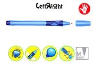 Шариковая ручка Stabilo LeftRigh для правшей (R) голубая