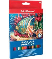 Карандаши цветные 18цв. карт. уп. Erich Krause