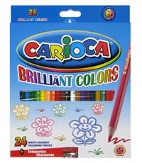 Карандаши цветные CARIOCA 24цв.+точилка