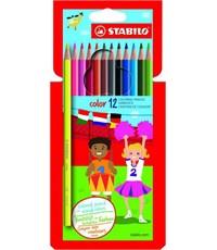 Карандаши цветные Stabilo Color 12 цветов в картонной упаковке