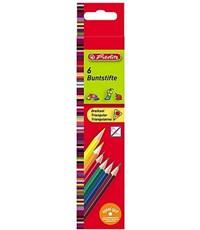 Карандаши цветные трехгранные Herlitz, 6 цветов