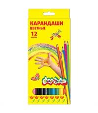 Набор цветных карандашей Каляка-Маляка, 12 цв. шестигранные с заточкой