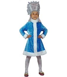 Карнавальный костюм Карнавалия Снегурочка велюр