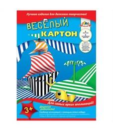 Картон цветной Аплика Ассорти двусторонний 6 листов 6 цветов