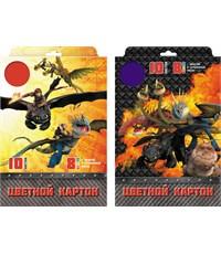 Картон цветной мелованный Action! Dragons А4. 10л., 10цв.
