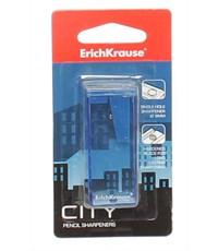 Пластиковая точилка Erich Krause CITY, одно отверстие, в блистере