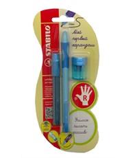 Механический карандаш для обучения письму Stabilo LeftRight  для правшей,голубой 6623/1-3В