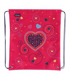 Мешок для обуви Herlitz Girls Mix 1 Pink Hearts