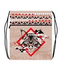 Мешок для обуви Оникс Этник кот с карманом и сеточкой