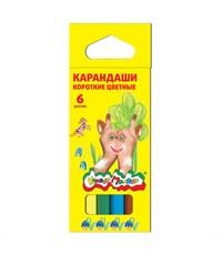 Набор цветных карандашей Каляка-Маляка 6 цв. короткие