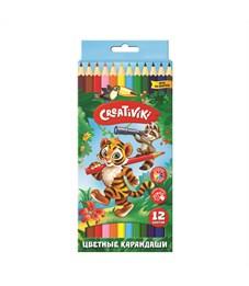 Набор цветных карандашей Creativiki 12 цв. шестигранные