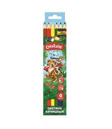 Набор цветных карандашей Creativiki  6 цв. шестигранные