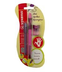 Механический карандаш для обучения письму Stabilo LeftRight  для правшей, розовый 6623/1-3В