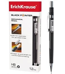 Карандаш механические Erich Krause BLACK POINTER 0.5 мм 12 шт.
