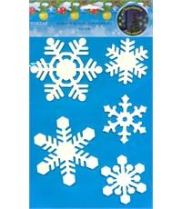 Набор наклеек Снежинки-03, светятся в темноте