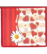 Папка для тетрадей Оникс Сердечки красные, А5, на молнии