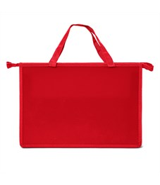 Папка для труда, А4, Creativiki, пластик,  с ручкой красная