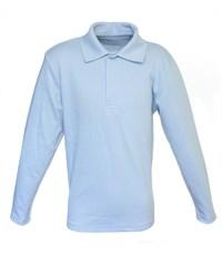 Поло Снег голубое длинный рукав  914-БИ
