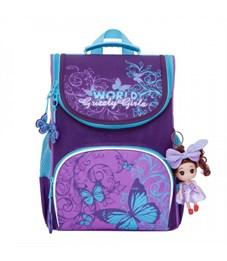 Рюкзак школьный Grizzly RA-873-2 с мешком (/1 фиолетовый)