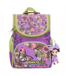 Рюкзак школьный Grizzly RA-873-4 с мешком (/1 лиловый)