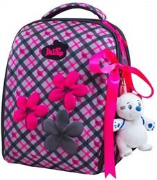 Ранец школьный DeLune Цветы 7mini-001 + мешок + пенал + мишка