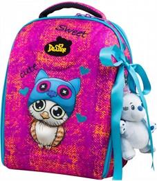 Ранец школьный DeLune 7mini-010 + мешок + пенал + мишка