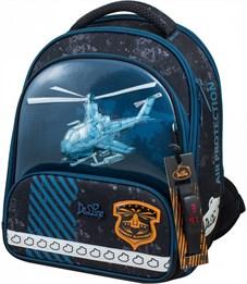 Ранец школьный DeLune Вертолет 9-118 + мешок + пенал + часы