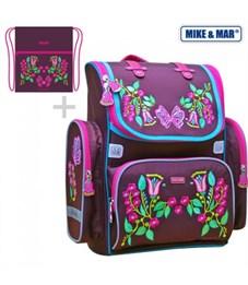 Ранец школьный Mike Mar Цветы + мешок