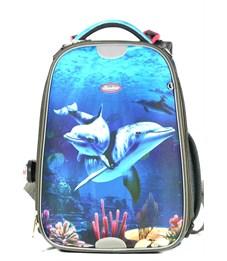 Ранец школьный Sternbauer Smart Combi Дельфины 7105 с мешком для обуви