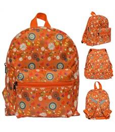 Рюкзак дошкольный Action! AKB0013 оранжевый Цветы