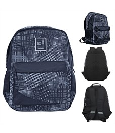 Рюкзак школьный ACTION! AB11109 серо-черный с принтом
