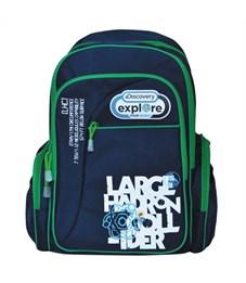 Рюкзак школьный Action! Discovery синий-зеленый
