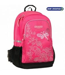 """Рюкзак школьный Dr. Kong """"Бабочка"""" розовый"""