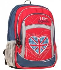 Рюкзак школьный Dr. Kong Лондон красный