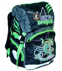 Рюкзак школьный Sternbauer Sky dragon ортопедическая спинка зеленые вставки