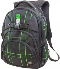 Рюкзак WinMax К-507 черный с зелеными полосками