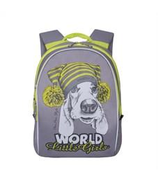 RS-764-1 Рюкзак дошкольный Grizzly серый
