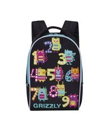 RS-764-6 Рюкзак дошкольный Grizzly черный